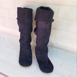 Zigi Soho Navy Blue Slouch Boots